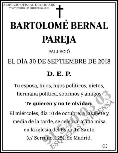 Bartolomé Bernal Pareja